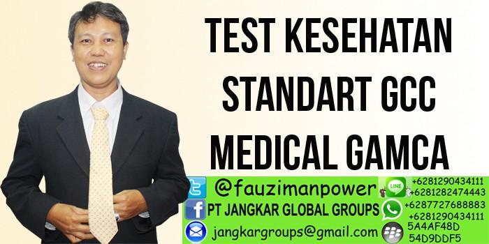 test kesehatan standart gcc