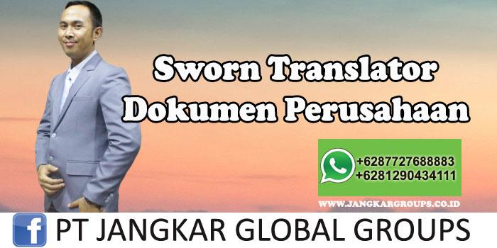 Sworn Translator Dokumen Perusahaan