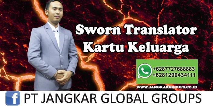 Sworn Translator Kartu Keluarga