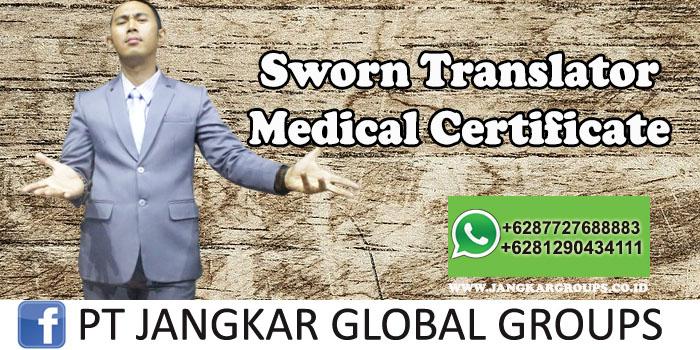 Sworn Translator Medical Certificate