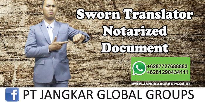 Sworn Translator Notarized Document