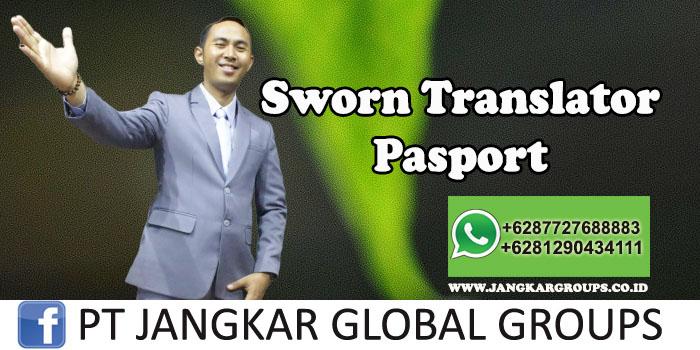 Sworn Translator Pasport