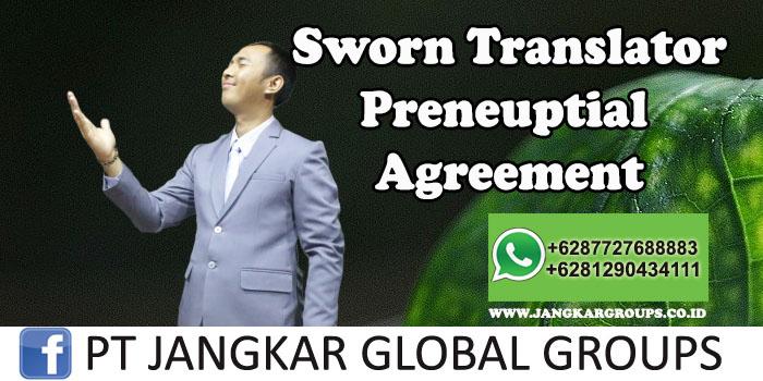 Sworn Translator Preneuptial Agreement