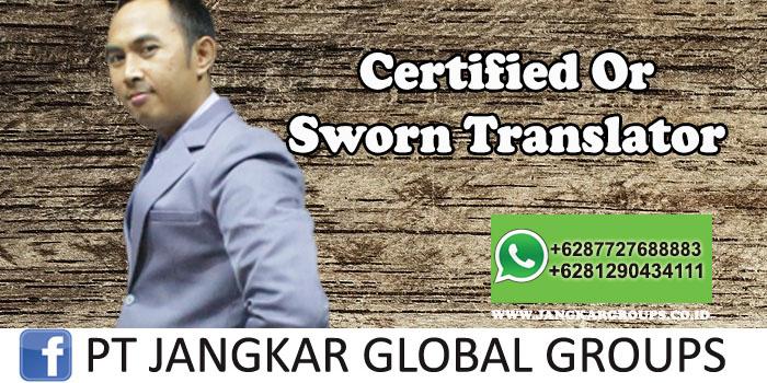 Sworn Translator or Certified