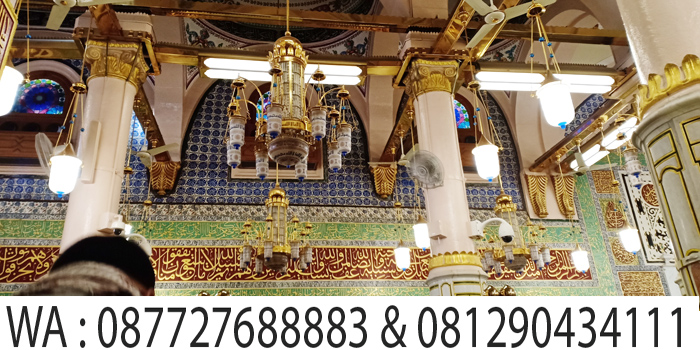 kaligrafi raudha di masjid nabawi madinah