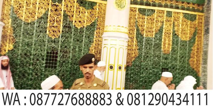 makam nabi muhammad saw di masjid nabawi madinah