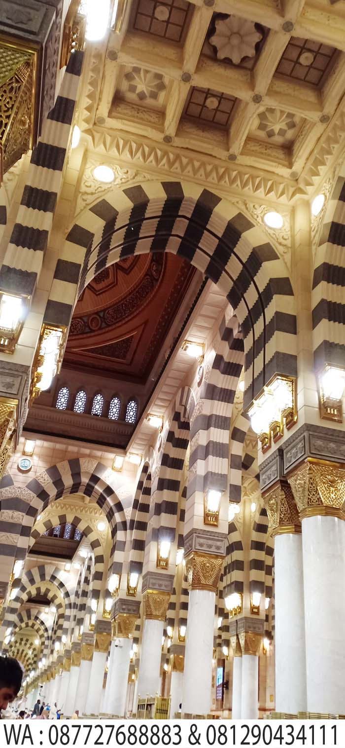 ornamen masjid nabawi madinah
