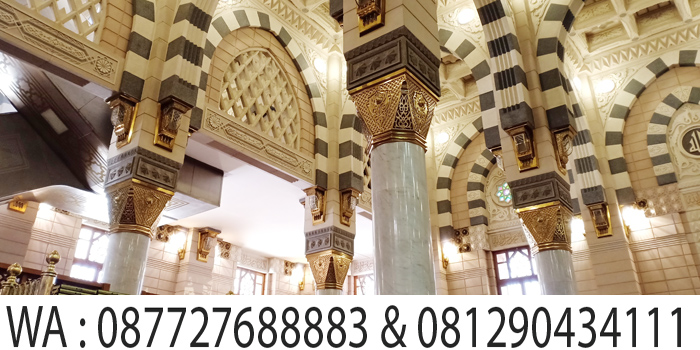 ornamen pilar masjid nabawi madinah