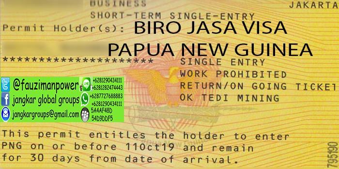 persyaratan visitor visa papua new guinea