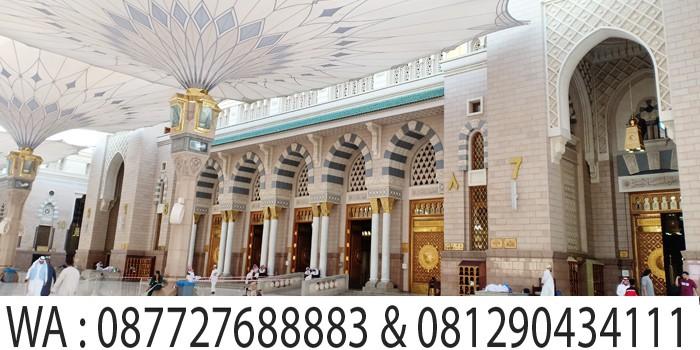 pintu nomer 7 masjid madinah