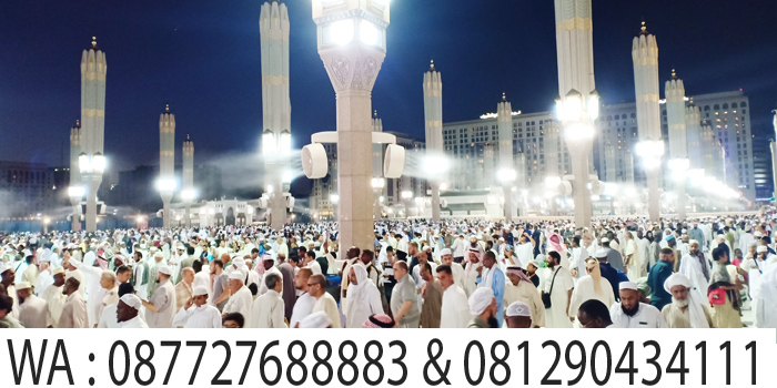 suasana subuh di masjid nabawi madinah