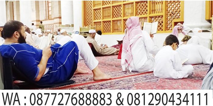 tadarusan alquran di masjid nabawi madinah