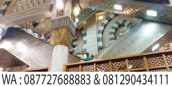 tangga berjalan di masjid nabawi madinah