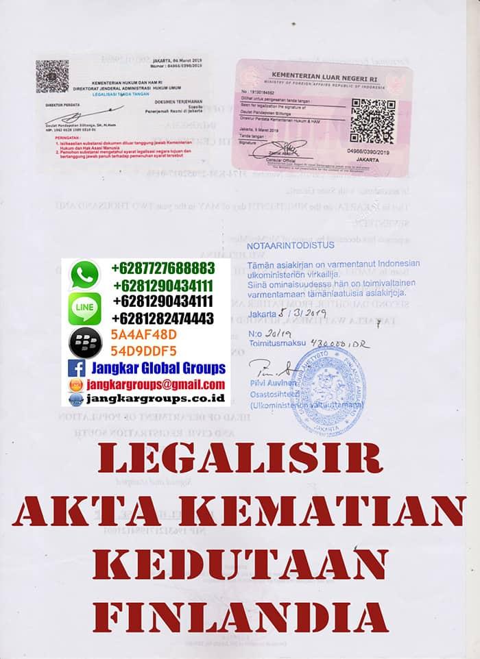 Legalisir akte kematian di kedutaan finlandia2