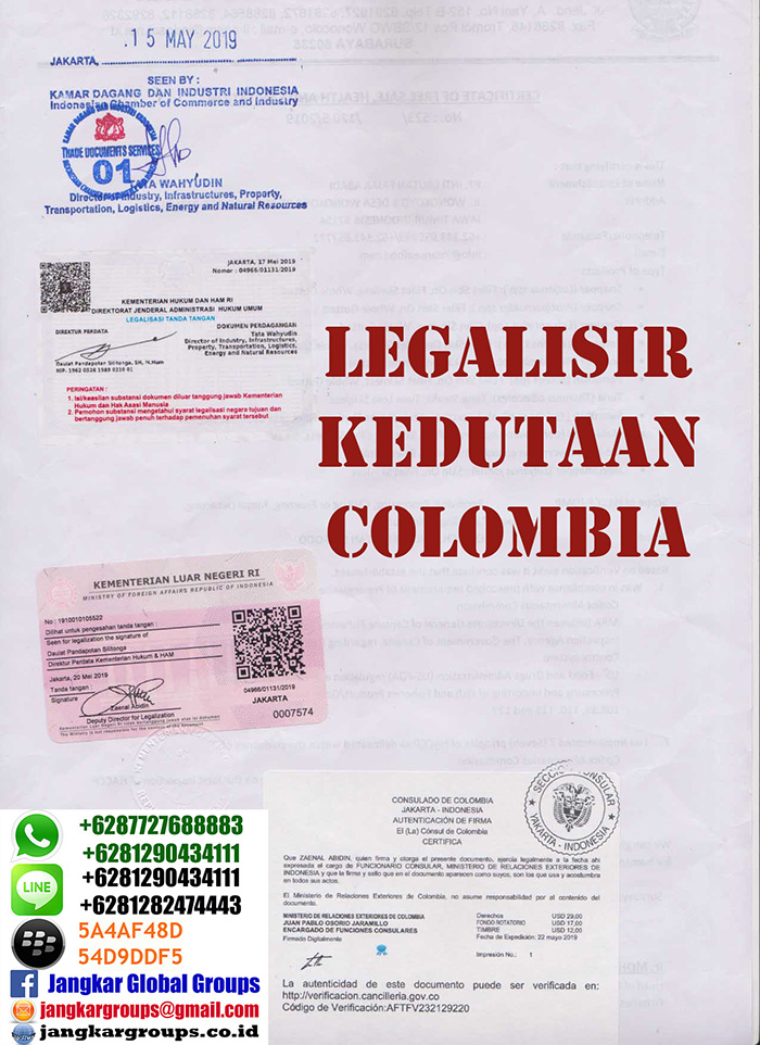 Legalisir dokumen di kedutaan colombia
