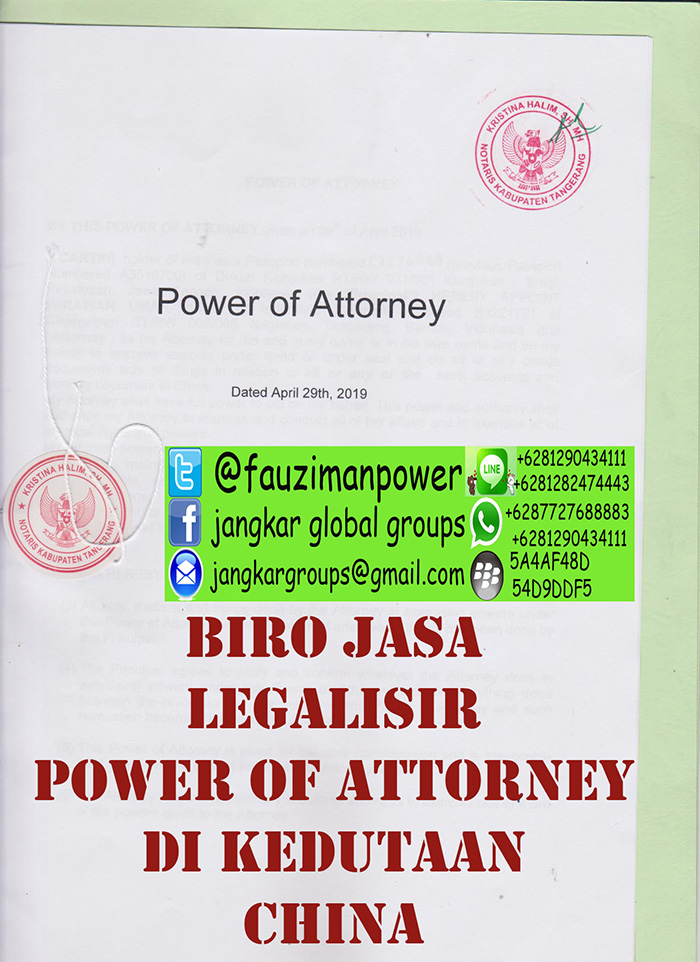 Legalisir power of attorney china2