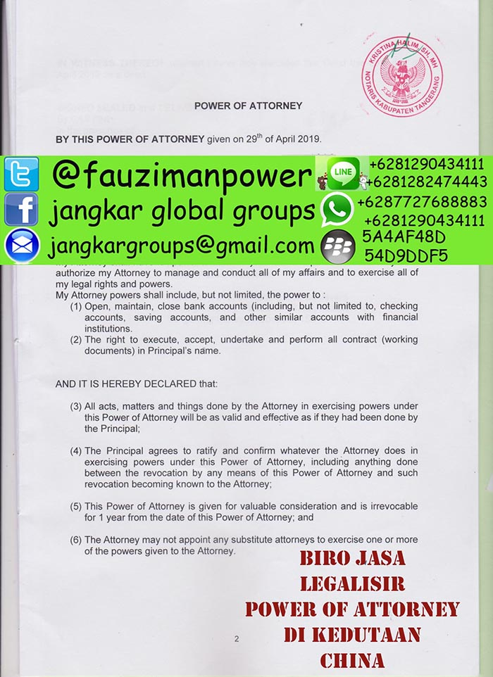 Legalisir power of attorney china3