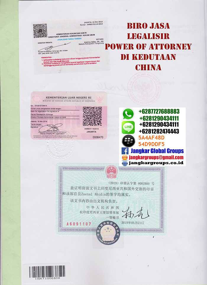 Legalisir power of attorney china5