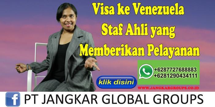 Visa ke Venezuela Staf Ahli yang Memberikan Pelayanan