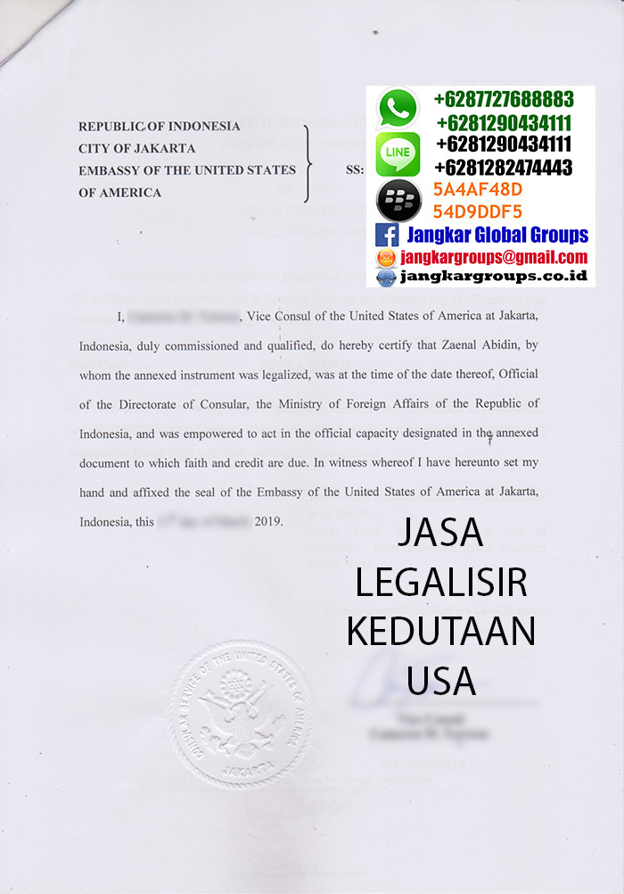 biro jasa legalisir kedutaan usa