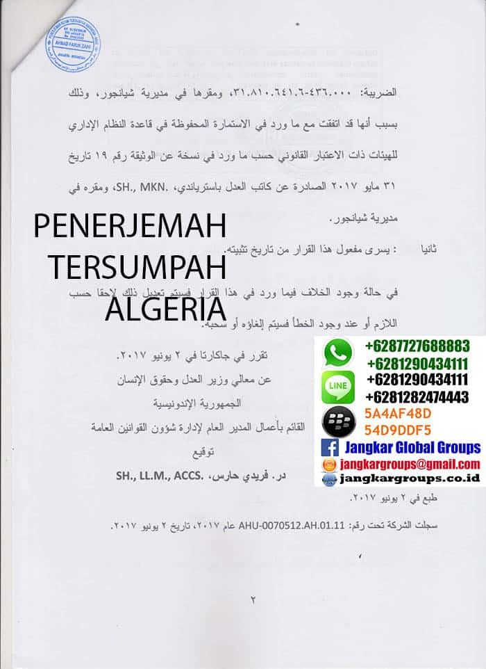 penerjemah tersumpah algeria