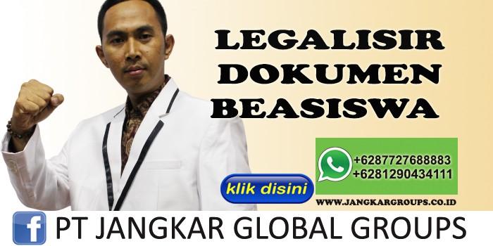 LEGALISIR DOKUMEN BEASISWA