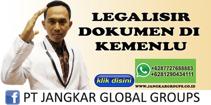 LEGALISIR DOKUMEN KEMENLU