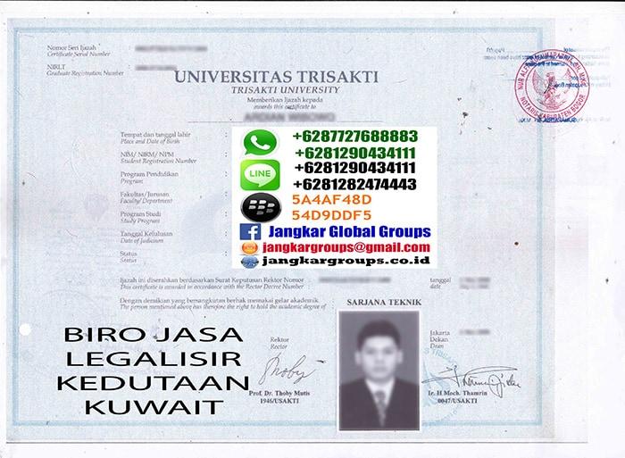 LEGALISIR IJASAH KUWAIT