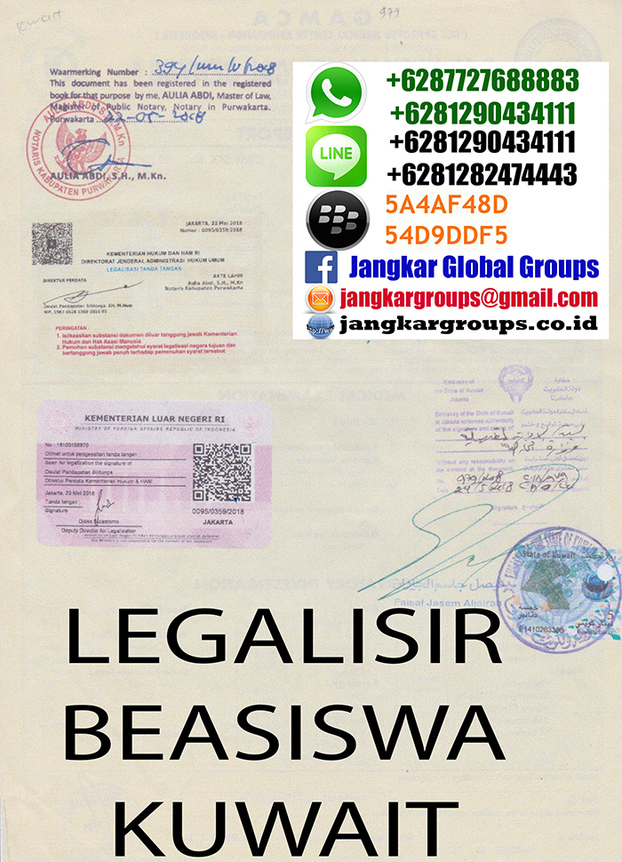 Legalisir Medical Gamca Beasiswa Kuwait