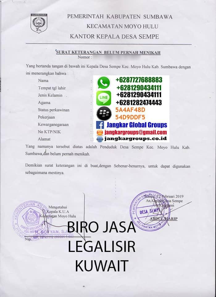 Legalisir Surat Single