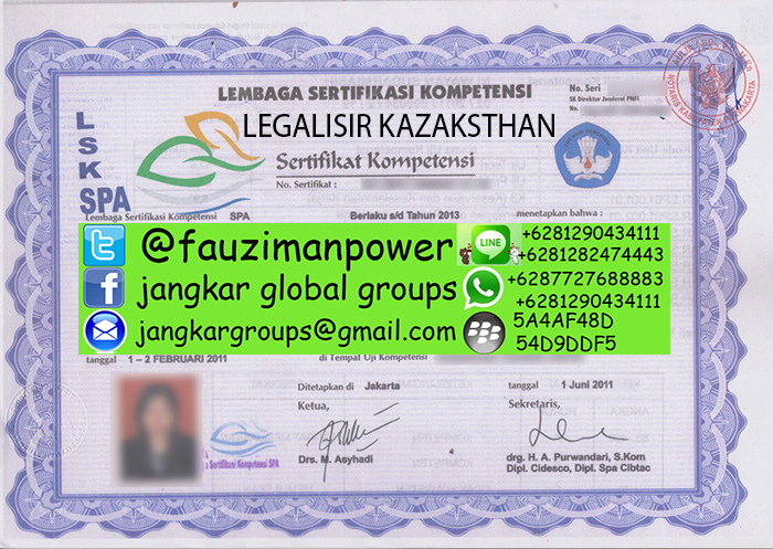 Legalisir kedutaan kazaksthan