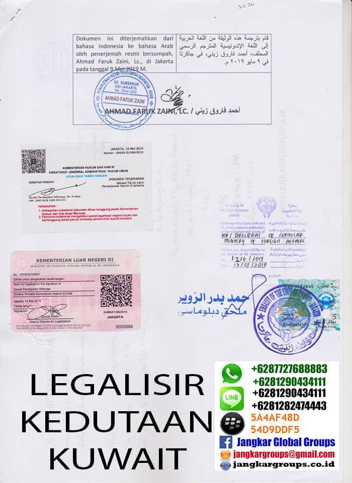 penerjemah tersumpah bahasa arab kedutaan kuwait