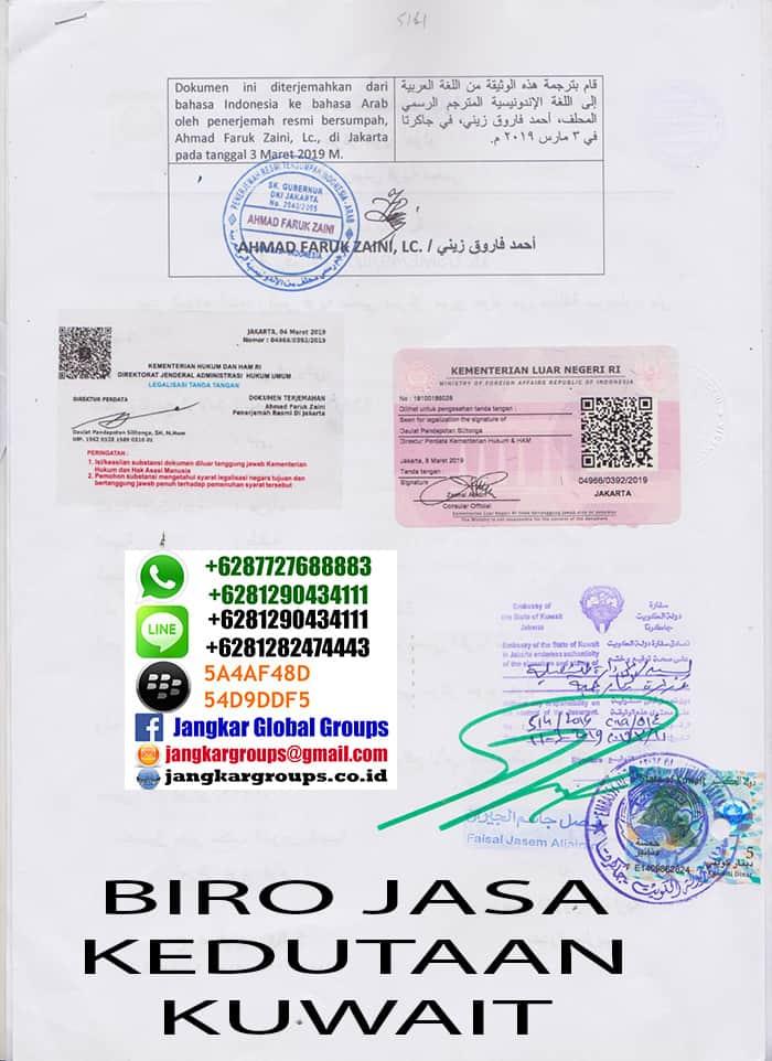 penerjemah tersumpah di kedutaan kuwait