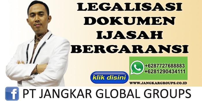 LEGALISASI DOKUMEN BERGARANSI