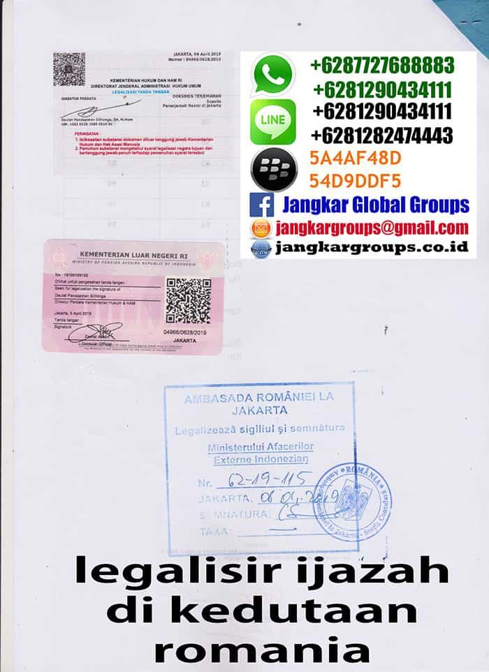 Legalisir translate ijasah di kedutaan romania4