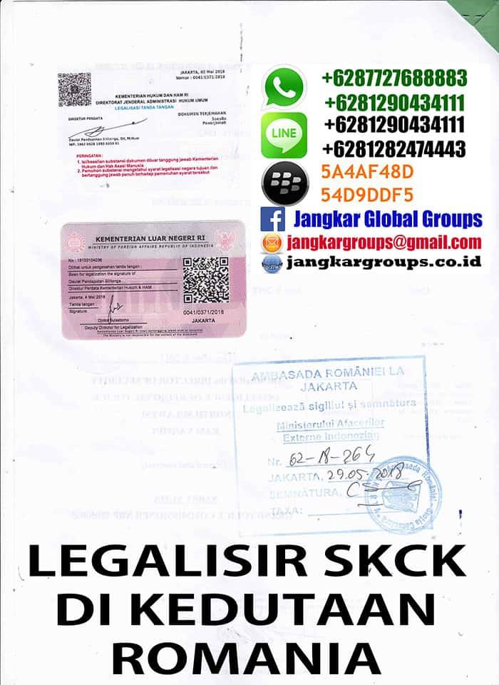 Legalisir translate skck di kedutaan romania3