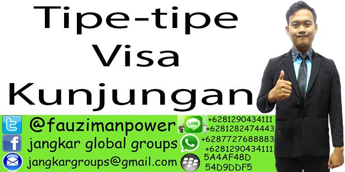 Tipe-tipe visa kunjungan