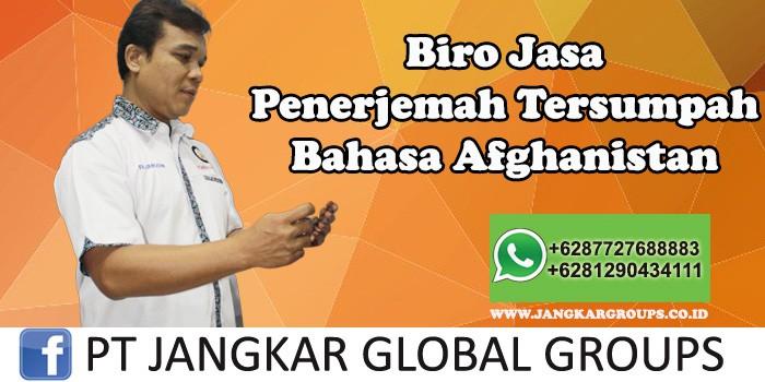 Biro Jasa Penerjemah Tersumpah Bahasa Afghanistan