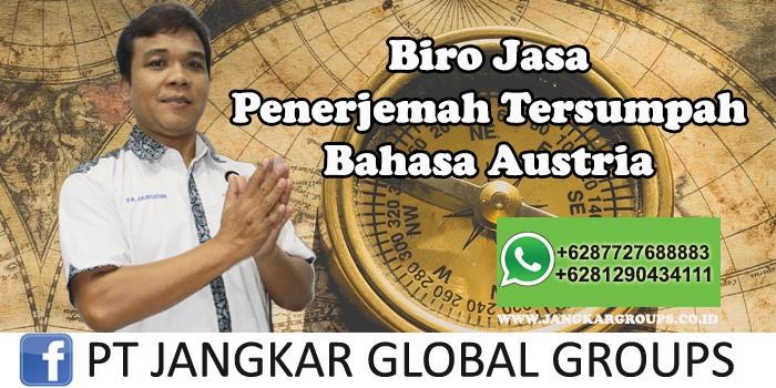 Biro Jasa Penerjemah Tersumpah Bahasa Austria