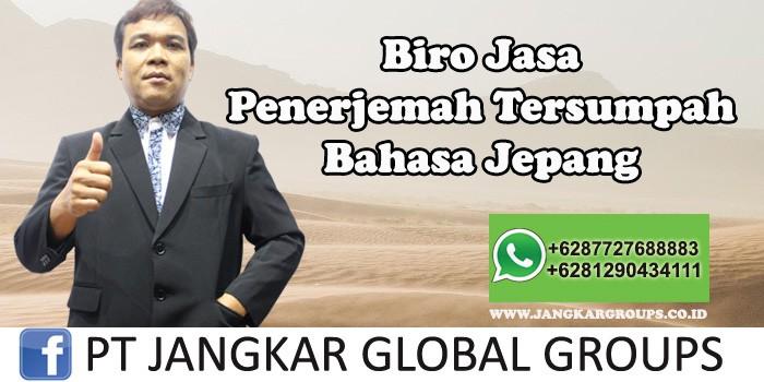 Biro Jasa Penerjemah Tersumpah Bahasa Jepang