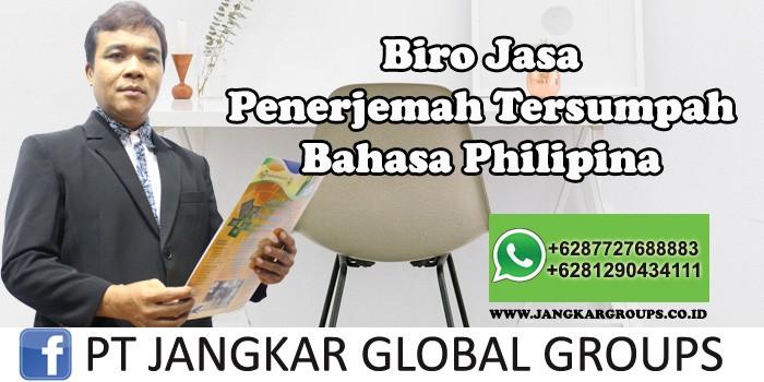 Biro Jasa Penerjemah Tersumpah Bahasa Philipina