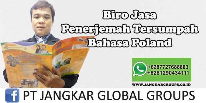 Biro Jasa Penerjemah Tersumpah Bahasa Polandia