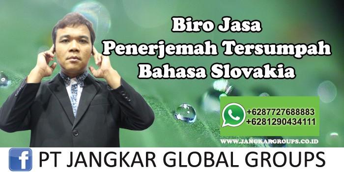 Biro Jasa Penerjemah Tersumpah Bahasa Slovakia