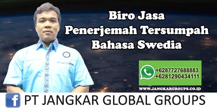 Biro Jasa Penerjemah Tersumpah Bahasa Swedia