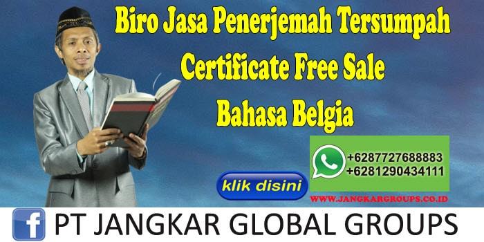 Biro Jasa Penerjemah Tersumpah Certificate Free Sale Bahasa Belgia