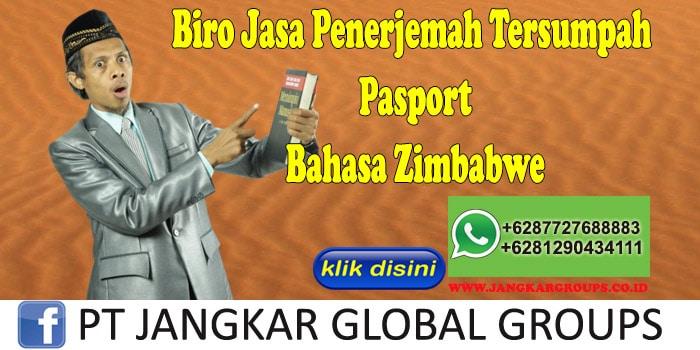 Biro Jasa Penerjemah Tersumpah Pasport Bahasa Zimbabwe
