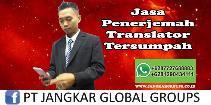 Jasa Penerjemah Translator Tersumpah