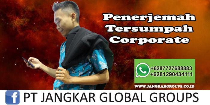 Penerjemah Tersumpah Corporate