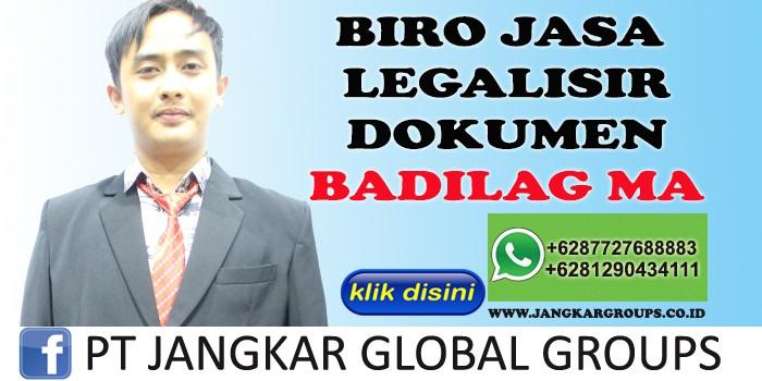 BIRO JASA LEGALISIR DOKUMEN BADILAG MA