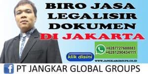 BIRO JASA LEGALISIR DOKUMEN DI JAKARTA